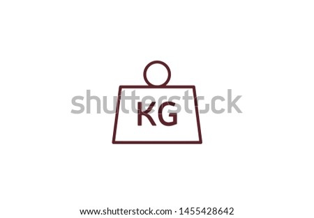 Kg icon in trendy flat style isolated on white background. Kg concept symbol. Vector illustration