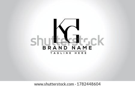 KG Logo Design Template Vector Graphic Branding Element. Stock fotó ©