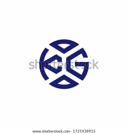 KG monogram logo with abstract shapes in modern style design template Stock fotó ©