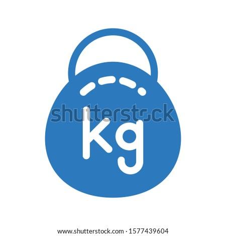 kg vector glyph color icon