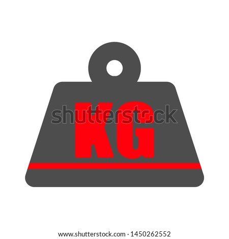 kg weight  icon. Logo element illustration.  kg weight  symbol design. colored collection. kg weight concept. Can be used in web and mobile