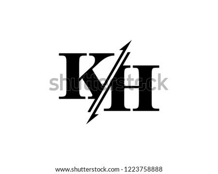 KH initials logo sliced