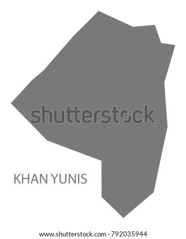 khan yunis map of palestine