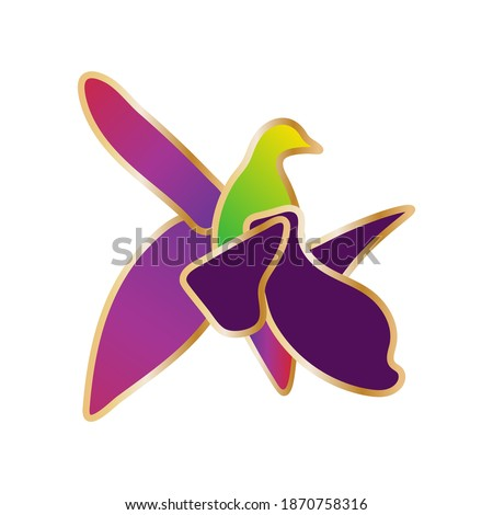 Khari Bulbul flower vector illustration.Xarı bulbul flower.Symbol of Azerbaijani martyrs.Symbol of Karabakh, Shusha.