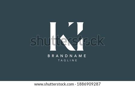 KI Alphabet initial Letter Monogram Icon Logo vector illustration Stock fotó ©