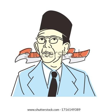 ki hajar dewantara indonesian hero of education Stock fotó ©