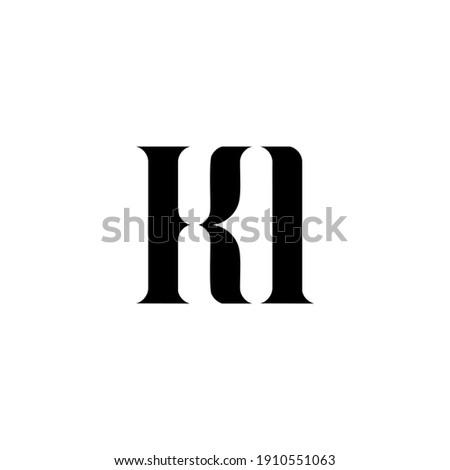 KI K I letter logo design. Initial letter KI uppercase monogram logo white color. KI logo, K I design. KI, K I Stock fotó ©