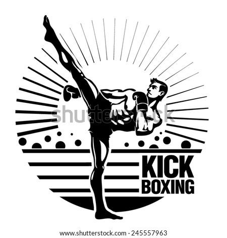 kickboxing vector illustration
