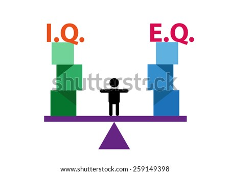 kid balancing iq and eq concept