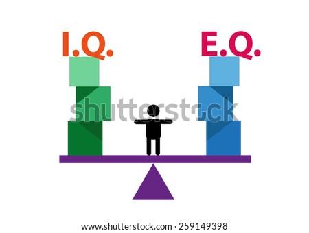 kid balancing iq and eq concept