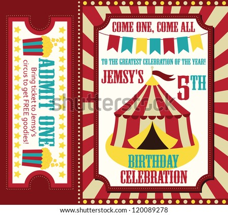 Vector Kids Party Invitation Download Free Vector Art Stock
