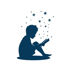 Kid Boy Study Learning Reading Book Looking for Inspiration