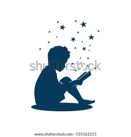 kid boy study learning reading