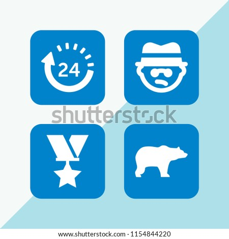 kid icon. 4 kid set with bully, zoo, day and military vector icons for web and mobile app