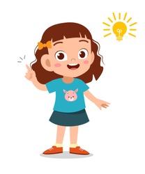 kid idea lamp sign vector