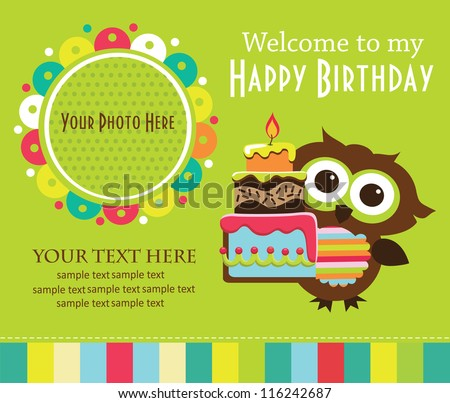 kid invitation card design. vector illustration