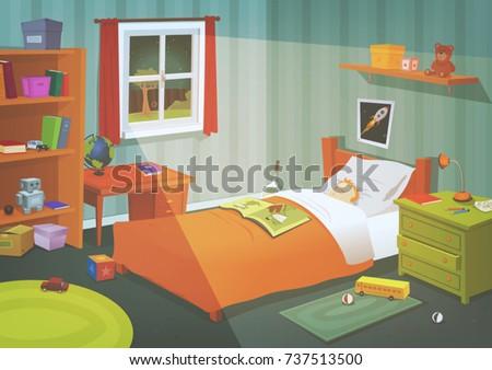 kid or teenager bedroom in the