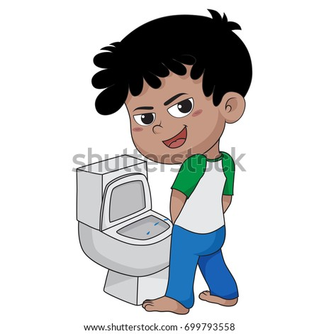 boy peeing vector