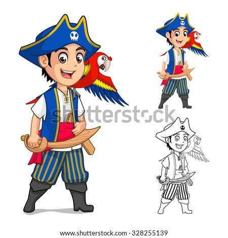 kid pirate cartoon character