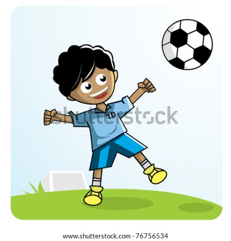 kid play football