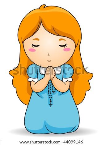 Cartoon child praying