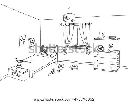 kid room graphic interior art