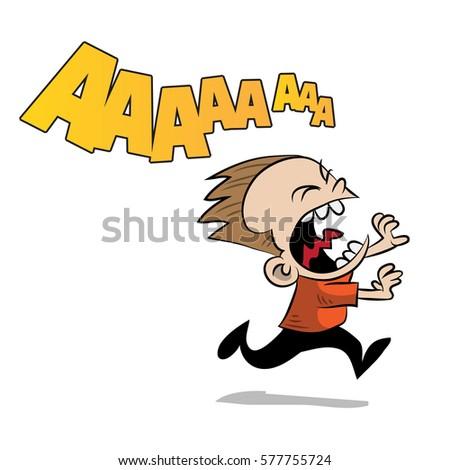 kid running scared