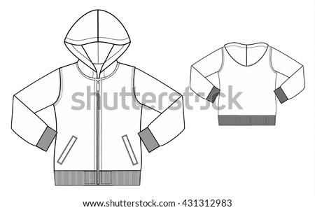Jackets Hoodies Sweater Outline Vector Design Download Free Kid Hoodie