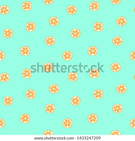 kid's seamless pattern orange