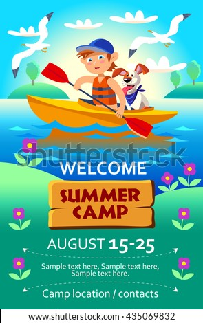 kid's summer camp poster or