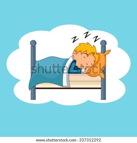 kid sleeping  bedtime  vector