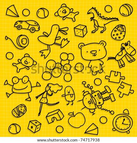 kid toy background