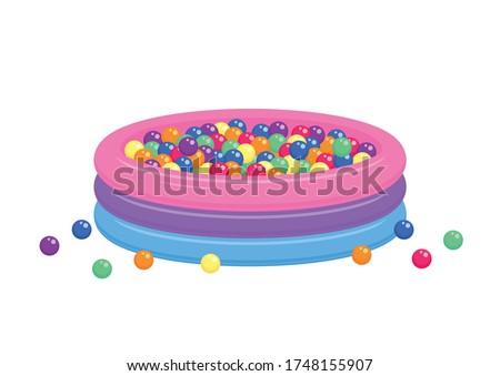 kiddie inflatable pool full of