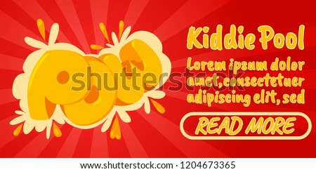 kiddie pool concept banner
