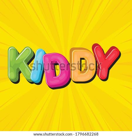 kiddy typography illustration
