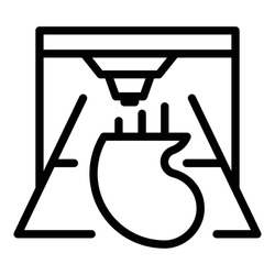 Kidney bioprinting icon. Outline Kidney bioprinting vector icon for web design isolated on white background