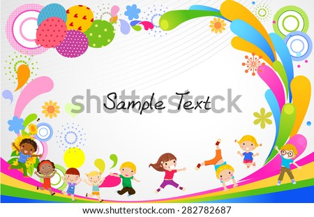 Kids Playing with Animals - Download Free Vector Art, Stock Graphics ...