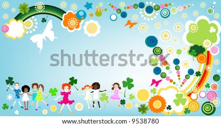kids at play -vector