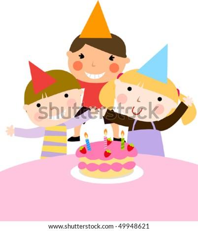 draw birthday element kids party design template find s