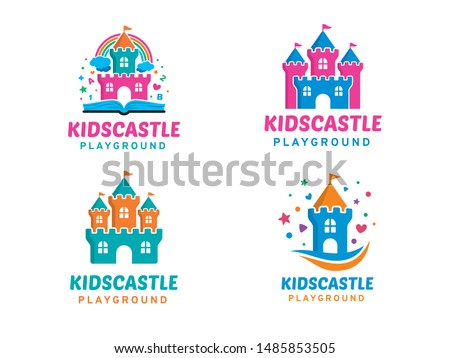 kids castle logo symbol or icon