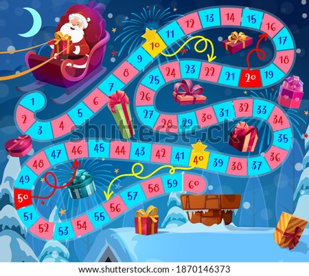 kids christmas board game with