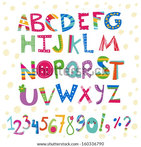 kids colorful alphabet