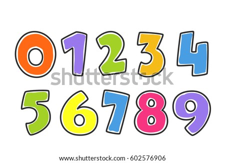 Kids Colorful Alphabet Numbers