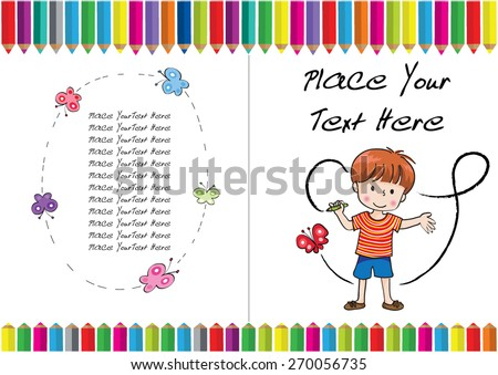 Royalty-free Kids coloring book cover design #270056729 Stock Photo ...