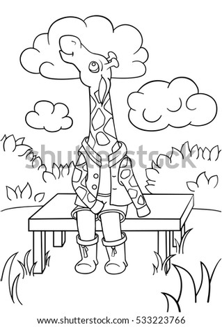 kids coloring page giraffe
