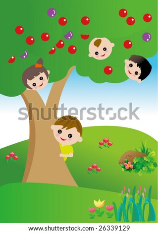 kids game vector