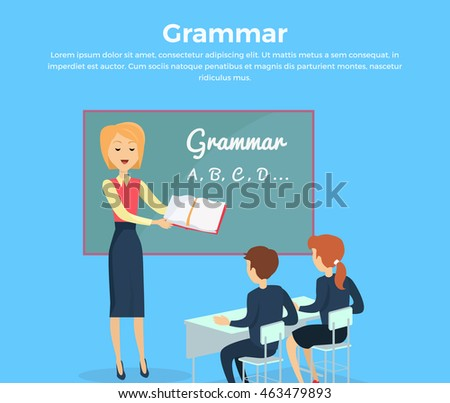 kids grammar teaching concept