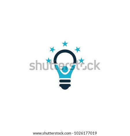 kids idea, smart kids, think tank light bulb logo design