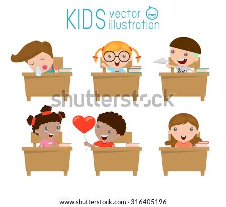 Klassenzimmer Kinder Vektor - Kostenlose Vektor-Kunst, Archiv ...