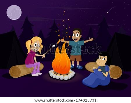 Kids In Summer Camp  #174823931